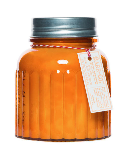 Blood Orange Amber Apothecary Jar Candle K Hall Studio