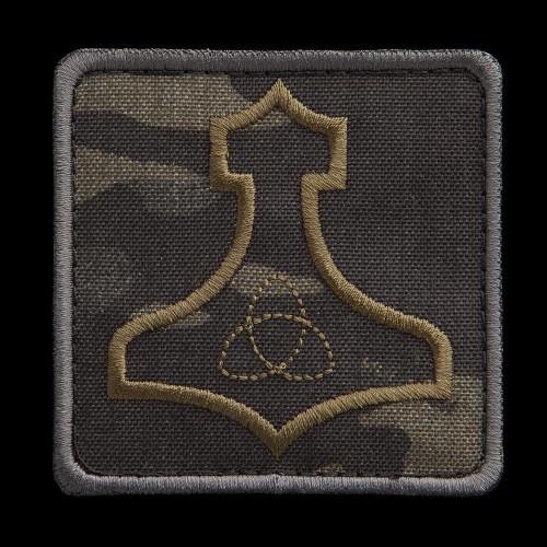 Mjölnir patch, MultiCam Black background