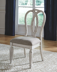 Realyn Chipped White Dining UPH Side Chair (2/CN)