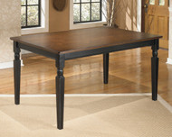 Owingsville Black/Brown Rectangular Dining Room Table