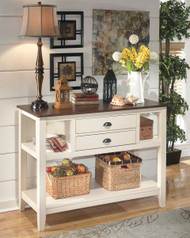 Whitesburg Brown/Cottage White Dining Room Server