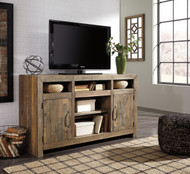 Sommerford Brown LG TV Stand with Fireplace Option