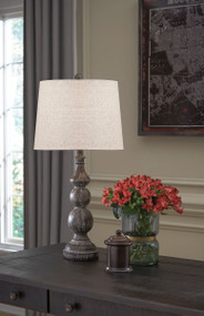 Mair Antique Black Poly Table Lamp (2/CN)