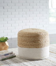 Sweed Valley Natural/White Pouf