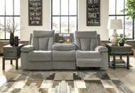Mitchiner Fog Reclining Sofa w/ Drop Down Table