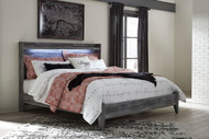 Baystorm Gray King Panel Bed