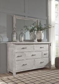 Brashland White Dresser & Mirror