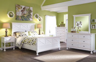 Kaslyn White 5 Pc. Dresser, Mirror & Queen Panel Bed