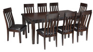 Haddigan Dark Brown 9 Pc. Rectangular Extension Dining Set