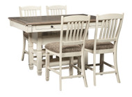 Bolanburg Antique White 5 Pc. Rectangular Counter Height Dining Set