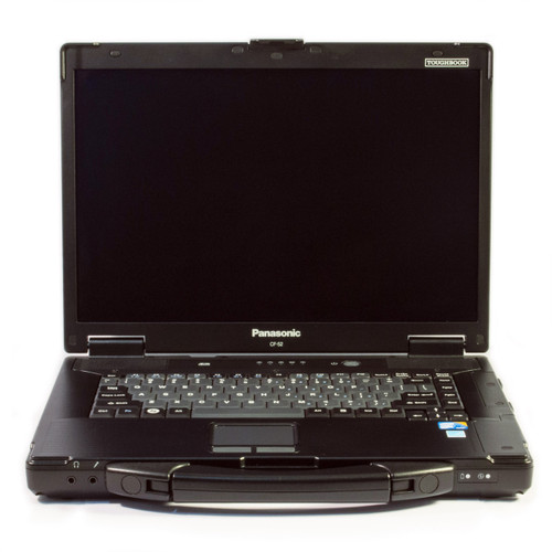 Panasonic Toughbook CF-52. The laptop in this photo is a refurbished Toughbook from our inventory. It is not a manufacturer stock photo.