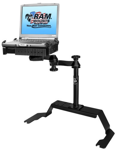 No-Drill™ Laptop Mount for the Chevrolet 1500 C/K, 2500 C/K, 3500 C/K, Blazer K-5, Silverado, Suburban, Tahoe, GMC Sierra & Yukon