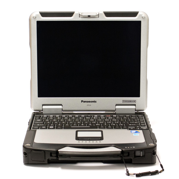 Toughbook CF-31 i5 front with backlit chiclet keyboard