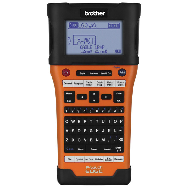 Brother P-Touch EDGE PT-E500 handheld labeling tool