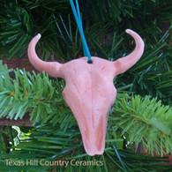 Longhorn steer head Christmas tree ornament made in Texas