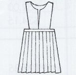 Knife Pleat Skirt With Slit Front Top Regular Size