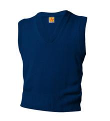 Sweater Vest V-Neck with School Logo