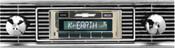 Custom AutoSound 1956 Chevy Tri 5USA-630 In Dash AM/FM