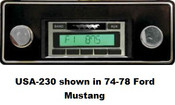 Custom AutoSound 1970-71 Torino USA-230 In Dash AM/FM