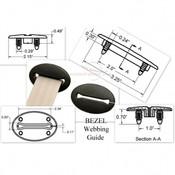 Seatbelt Planet Bezel Webbing Guide - Black 1