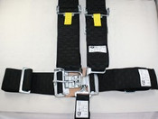 5Pt. Black Checkerboard Racing Harness