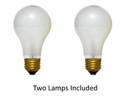 Twin Pack 60 Watt Incandescent Lamps (Frosted) NC/60A19FR2