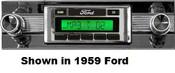 Custom AutoSound 1956 Ford USA-630 In Dash AM/FM