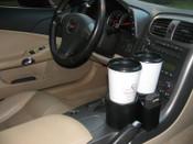"""2005-2013 C6 Corvette """"Plug & Chug"""" Duel Drink Holder"""