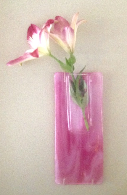 Fused Glass Wall Vases