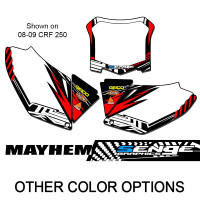 MAYHEM RED CUSTOM MX PLATES