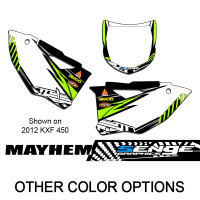 MAYHEM GREEN CUSTOM MX PLATES