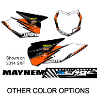 MAYHEM ORANGE CUSTOM MX PLATES