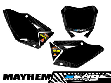 MAYHEM BLACK CUSTOM MX PLATES