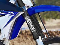Upper Fork Tube Protector Carbon Fiber - Senge Stamp Logo