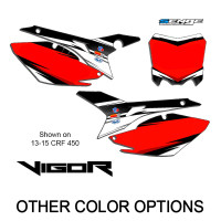 VIGOR WHITE CUSTOM MX NUMBER BACKGROUNDS