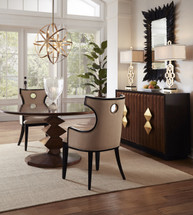 "Contemporary Round Dining Table 60"" from Camden Collection"
