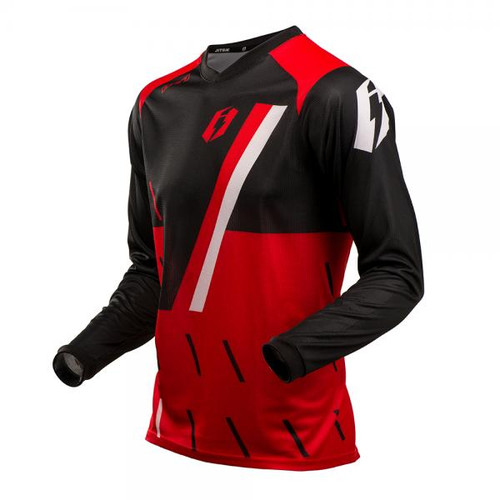 Jersey L3 Domino, black/red/ white