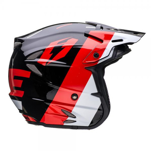 HT2 Domino helmet, black/red/silver