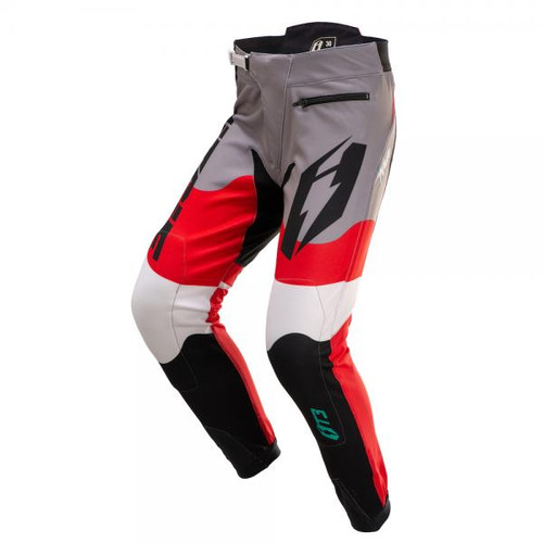 Pants T3 Wave black/ red/ teal