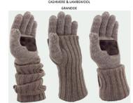 Grandoe Cashmere & Lambswool Luxurious Knit Glove