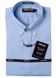 KIRKLAND SIGNATURE NON-IRON DRESS SHIRT BUTTON DOWN COLLAR