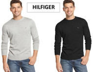 MENS TOMMY HILFIGER 100% COTTON SIGNATURE CREW NECK SWEATER