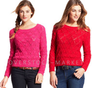 WOMEN'S TOMMY HILFIGER MARLED KNIT TEXTURED SWEATER!