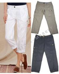 WOMEN'S TOMMY HILFIGER CROPPED CARGO PANTS!