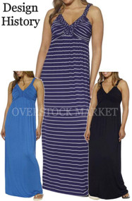 Design History Women's Maxi Dress! Soft and Sexy Braided Straps!
