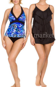 WOMENS KIRKLAND SIGNATURE BY MIRACLESUIT 2 PIECE SWIM SETS
