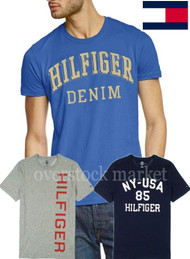 NEW! MENS TOMMY HILFIGER 100% COTTON CLASSIC CREW NECK LOGO TEE T-SHIRT