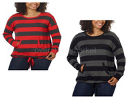 WOMENS KENSIE FRENCH TERRY CREW NECK PULLOVER