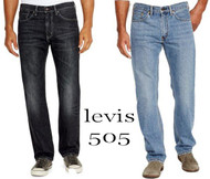 Mens Levi's 505 Regular Fit Leg Jeans