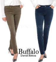 WOMENS BUFFALO DAVID BITTON VELVET SKINNY PANT! MID RISE SLIM LEG!